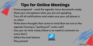 Tips for Online Meetings